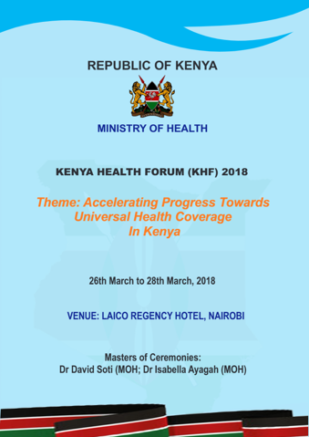 Communique – Kenya Heath Forum – 2018