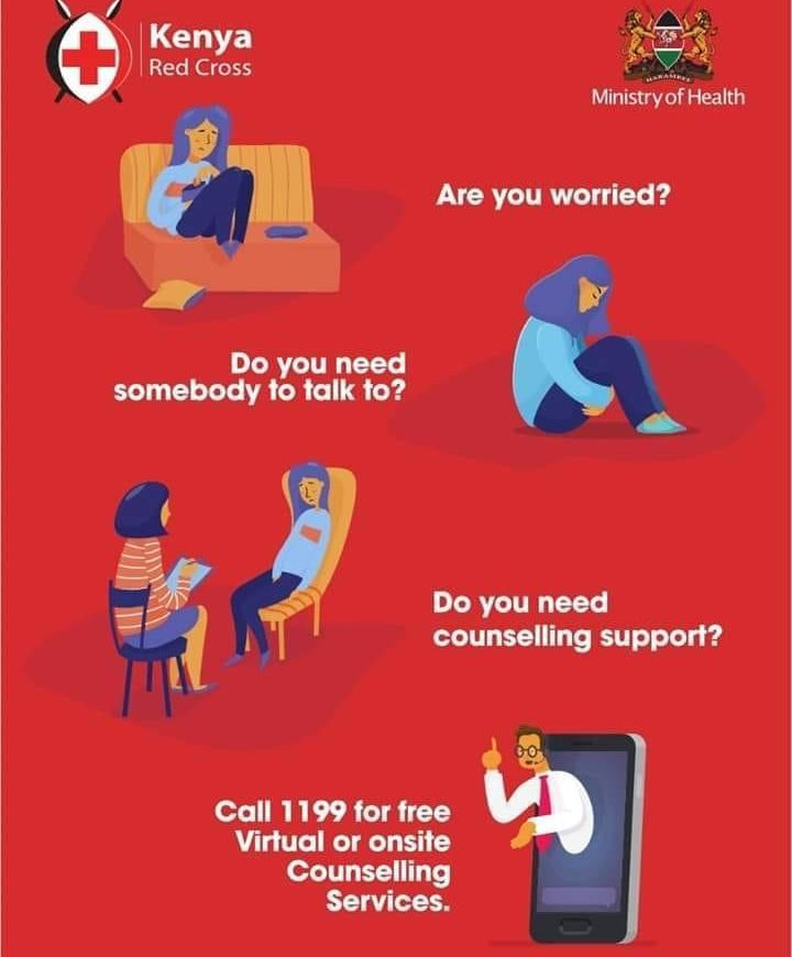 Kenya Red Cross Counseling Support Hotline