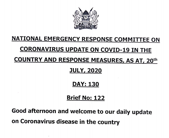 COVID-19 Press Statement, July 20th, 2020
